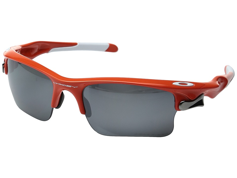Oakley - MPH Fast Jacket XL (Team Orange/Black Iridium Polarized) Sport Sunglasses