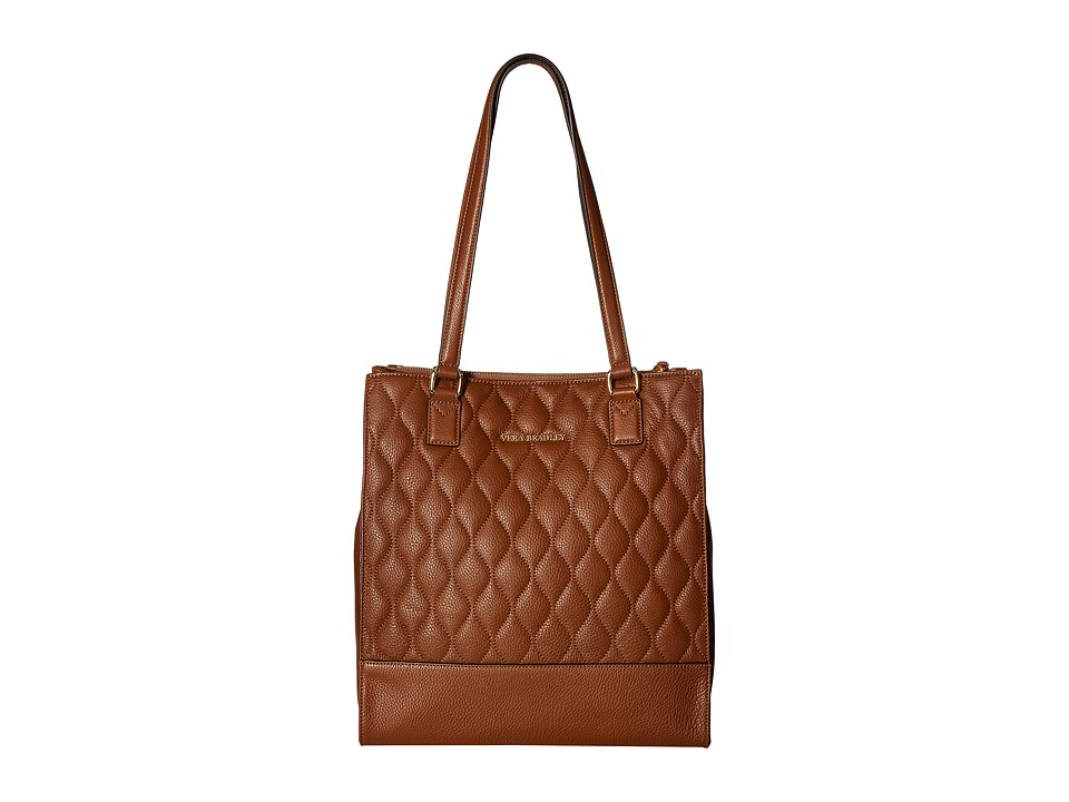 Vera Bradley - Quilted Nora Tote (Cognac) Tote Handbags