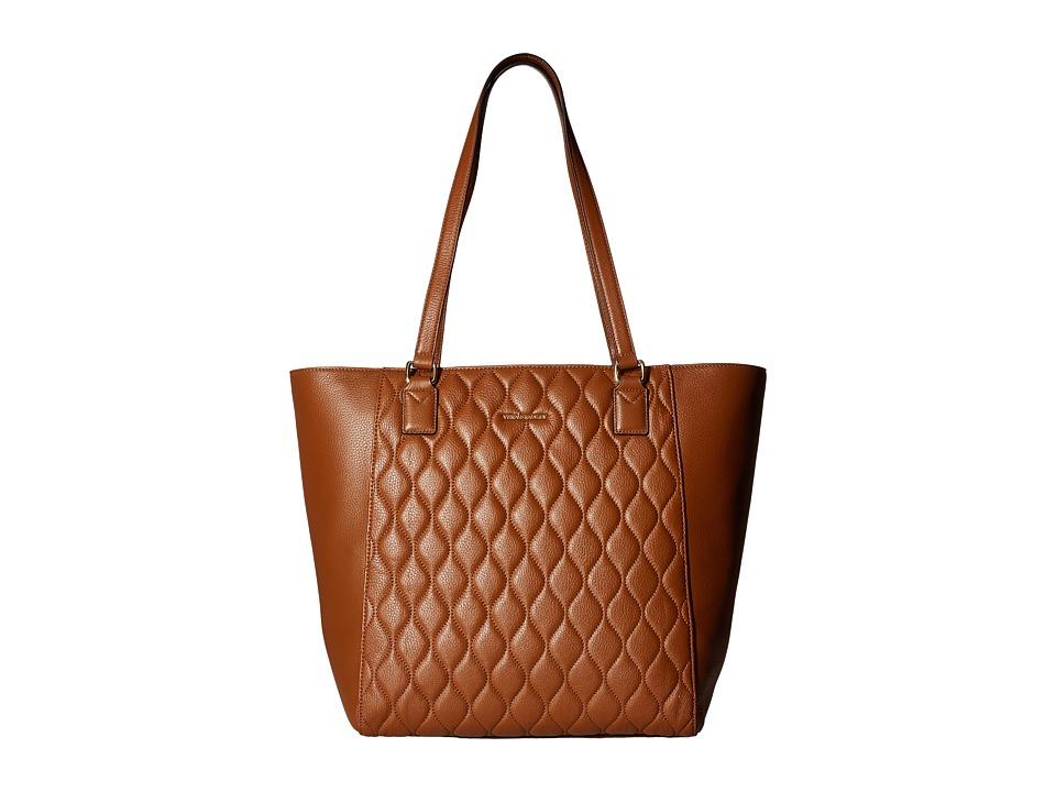 Vera Bradley - Quilted Ella Tote (Cognac) Tote Handbags