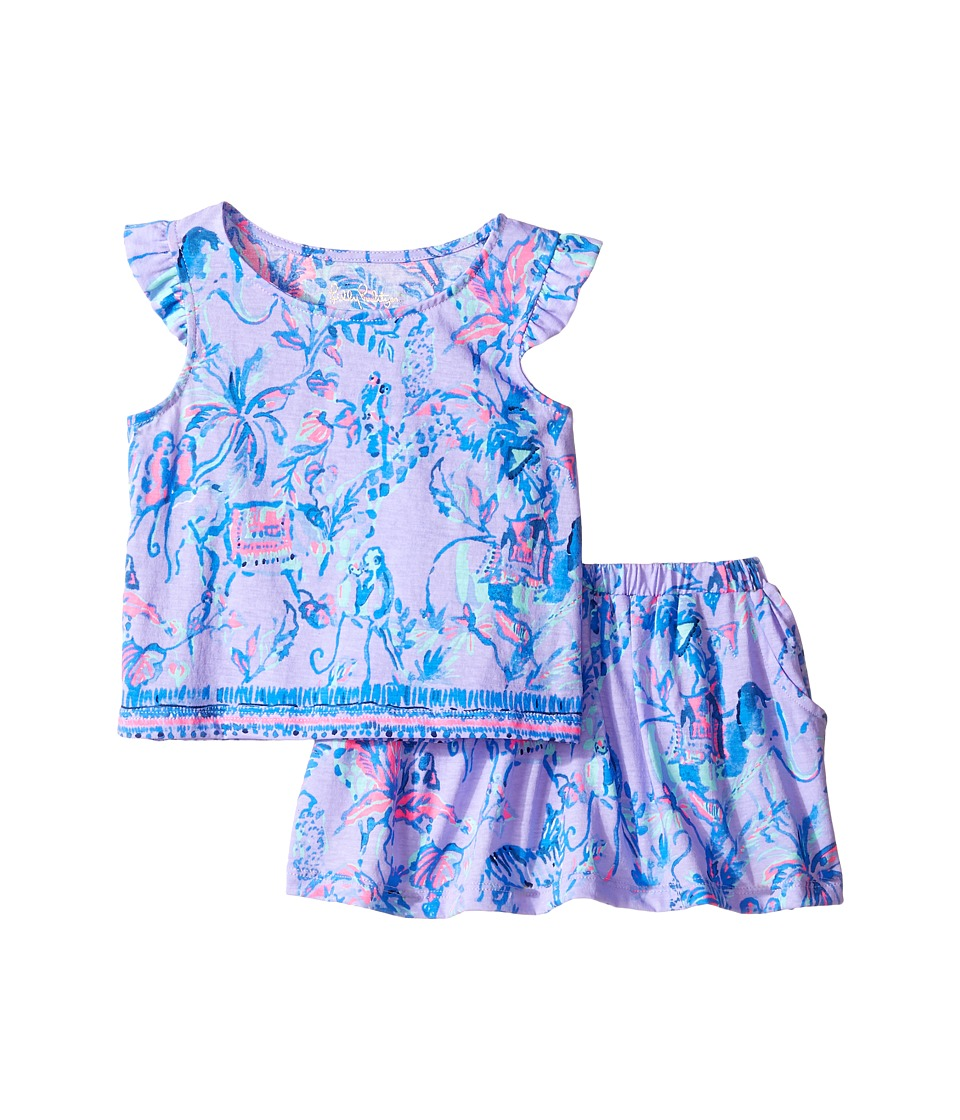 Lilly Pulitzer Kids - Opal Set (Toddler/Little Kids/Big Kids) (Lilac Verben Fruity Monkey) Girl's Active Sets