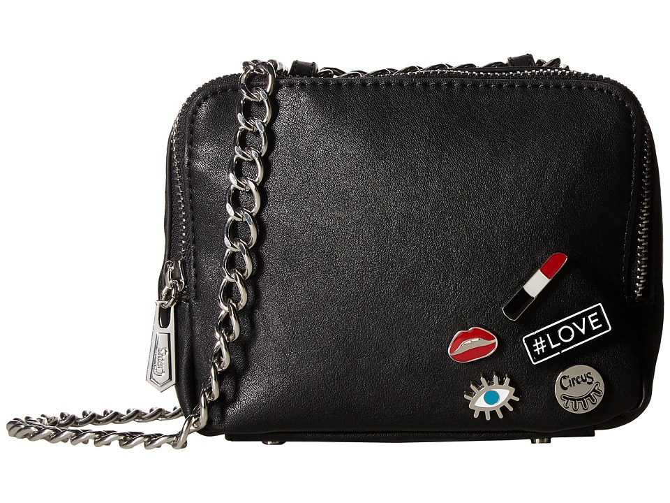 Circus by Sam Edelman - Cash Crossbody (Black/Lipstick) Cross Body Handbags