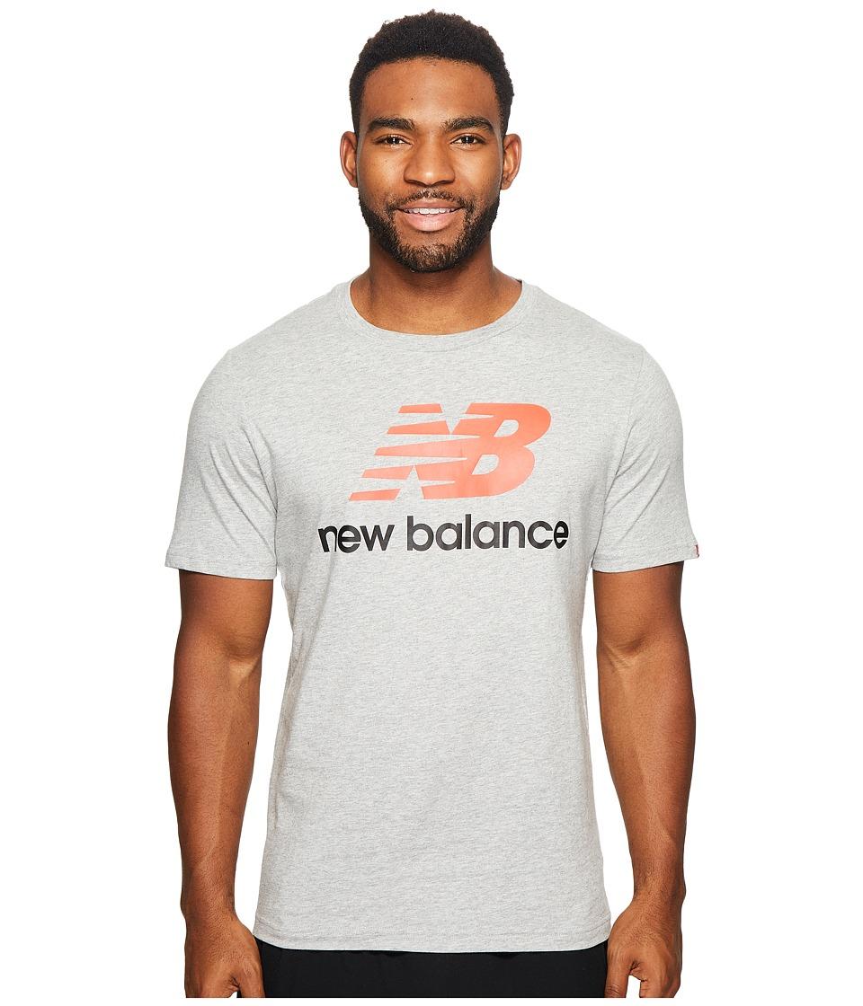 New Balance Essentials Stacked Logo Tee (Athletic Grey) Men