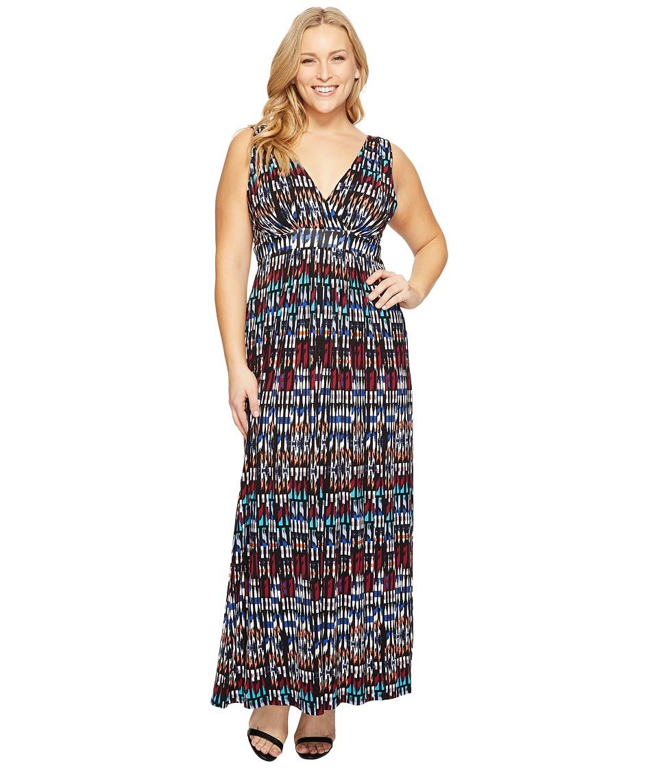Tart - Plus Size Chloe Maxi Dress (Ikat Geometric Print) Women's Dress