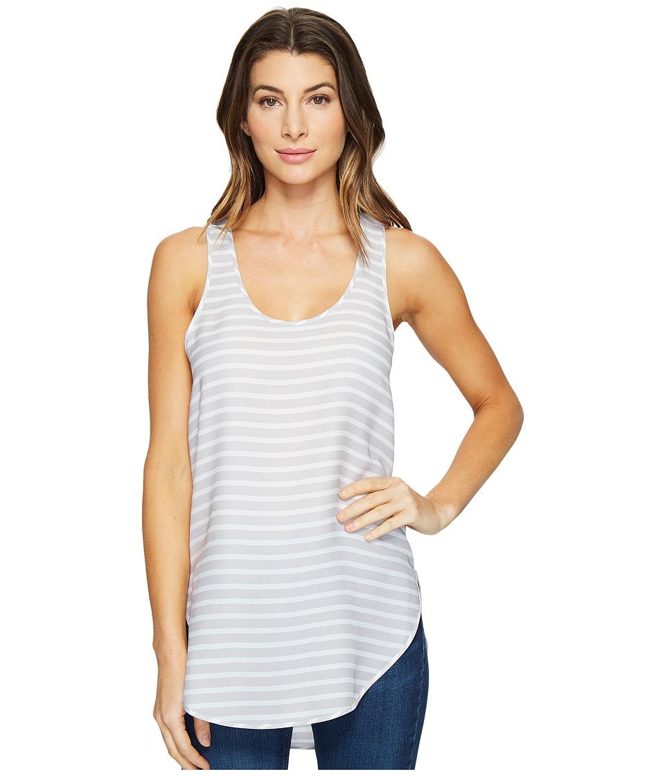 HEATHER - Silk Scoop Tank Top (Nimbus Stripe) Women's Sleeveless
