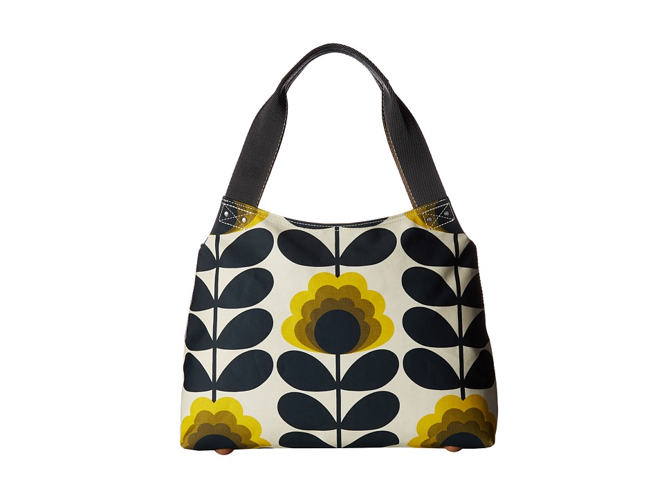 Orla Kiely - Summer Flower Stem Classic Zip Shoulder Bag (Sunshine) Shoulder Handbags
