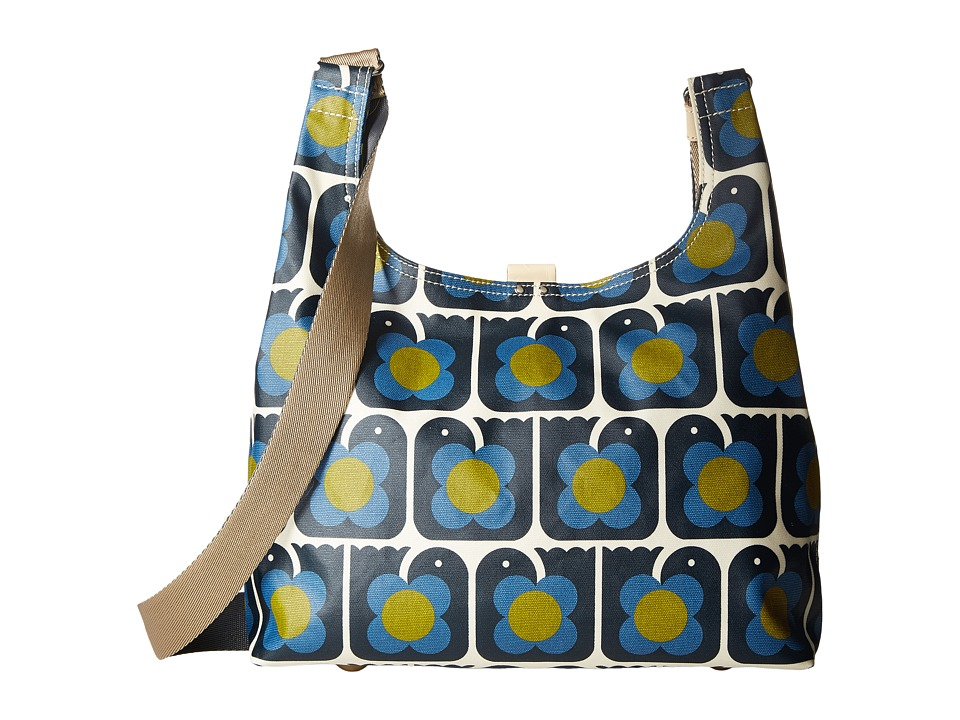 Orla Kiely - Love Birds Print Midi Sling Bag (Navy) Handbags