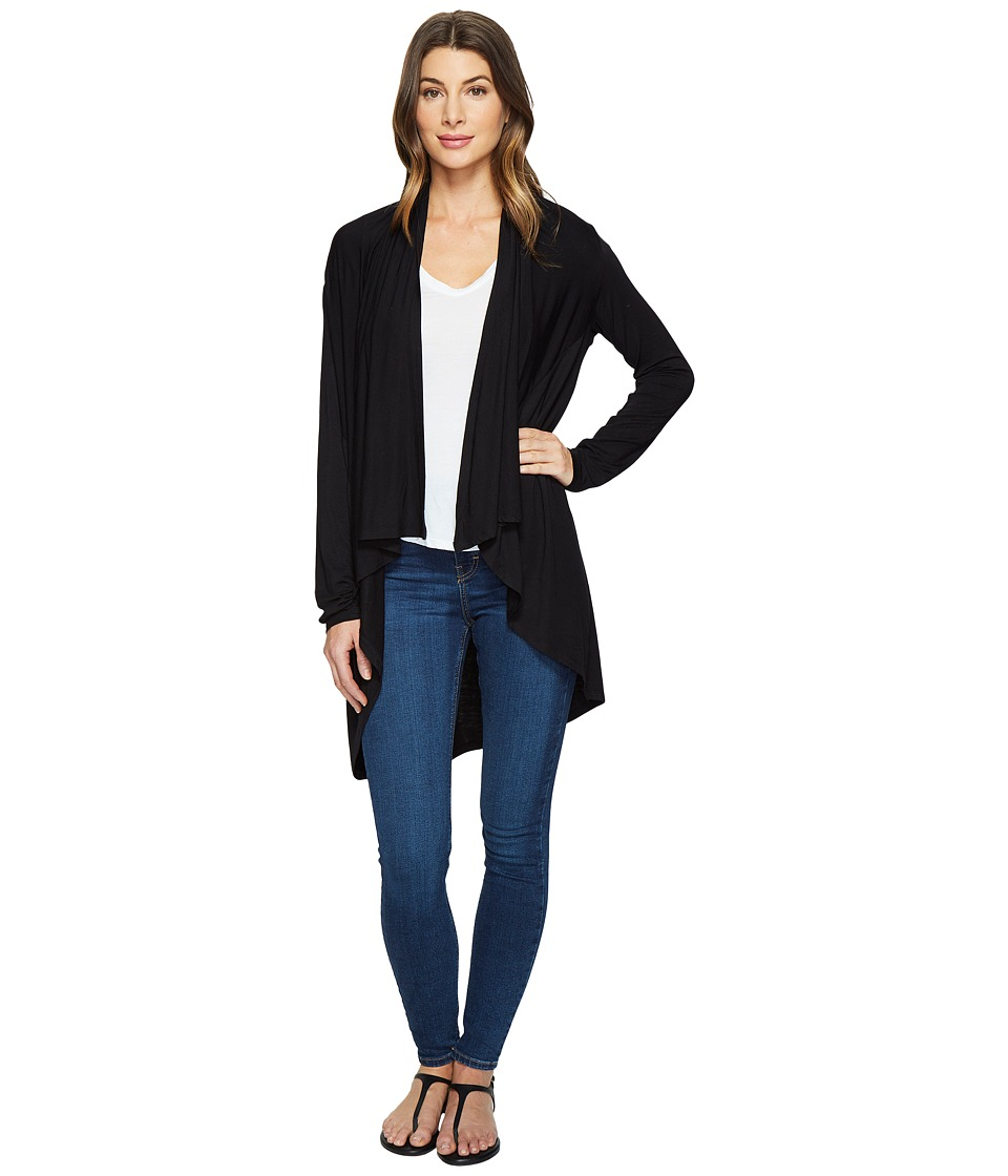 HEATHER - Long Sleeve Swing Cardigan (Black) Women's Sweater