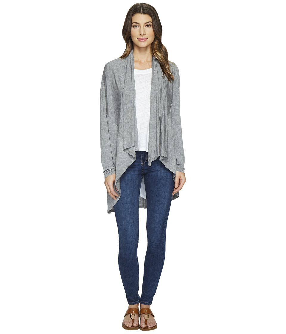 HEATHER - Long Sleeve Swing Cardigan (Light Heather Grey) Women's Sweater