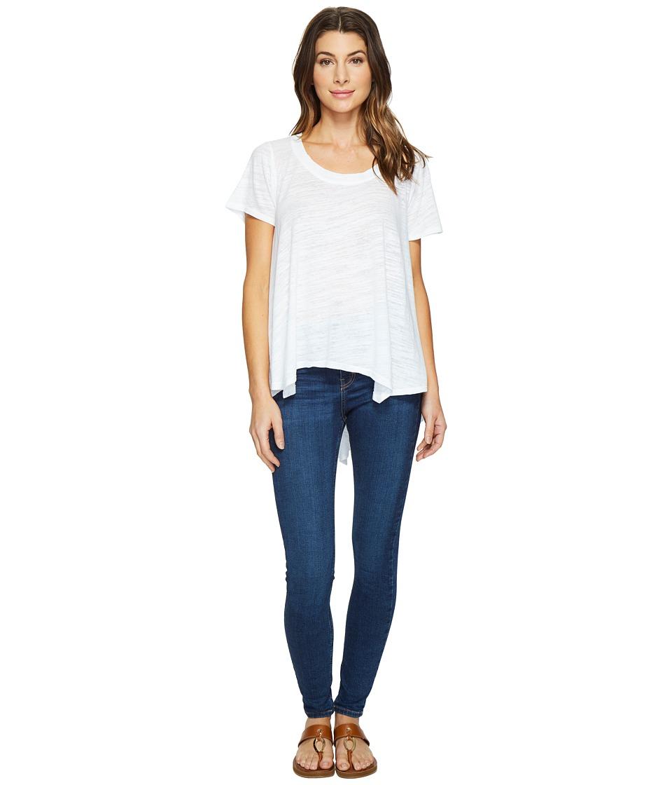 HEATHER - Cotton Gauze Swing Top (White) Women's Clothing