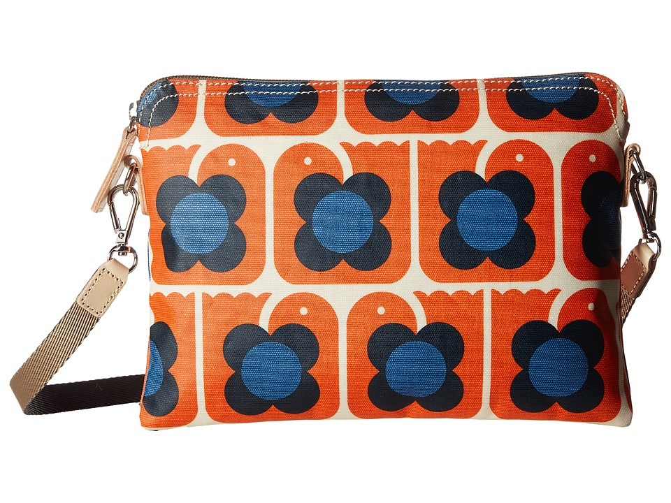 Orla Kiely - Love Birds Print Travel Pouch (Persimmon) Travel Pouch