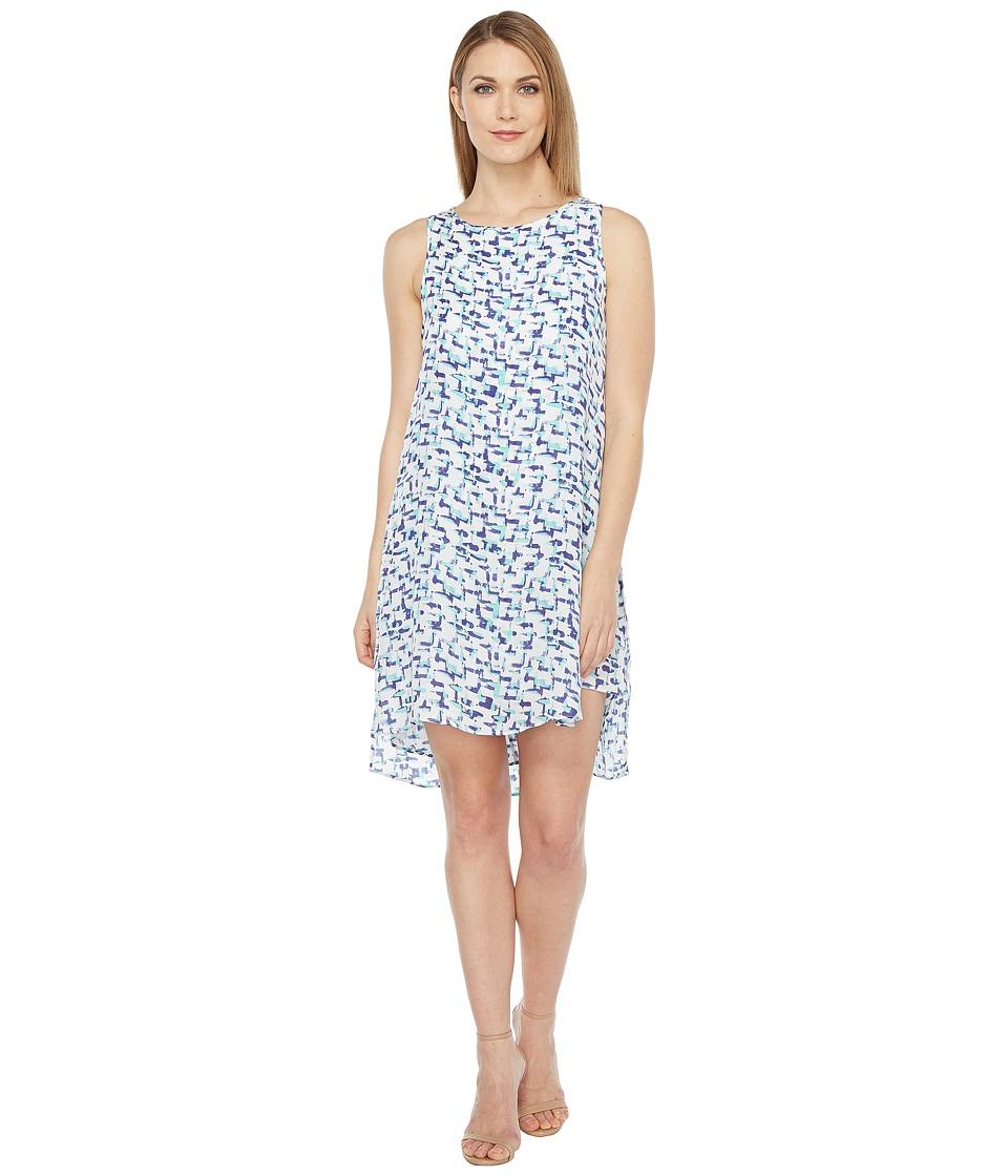 HEATHER - Silk Layered Split Side Dress (Hatch) Women's Dress