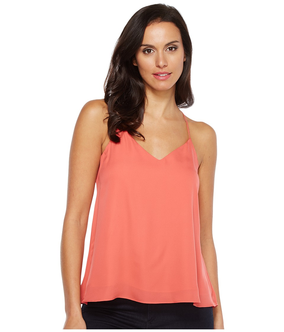 HEATHER - Silk Swing Raceback Cami (Melon) Women's Sleeveless