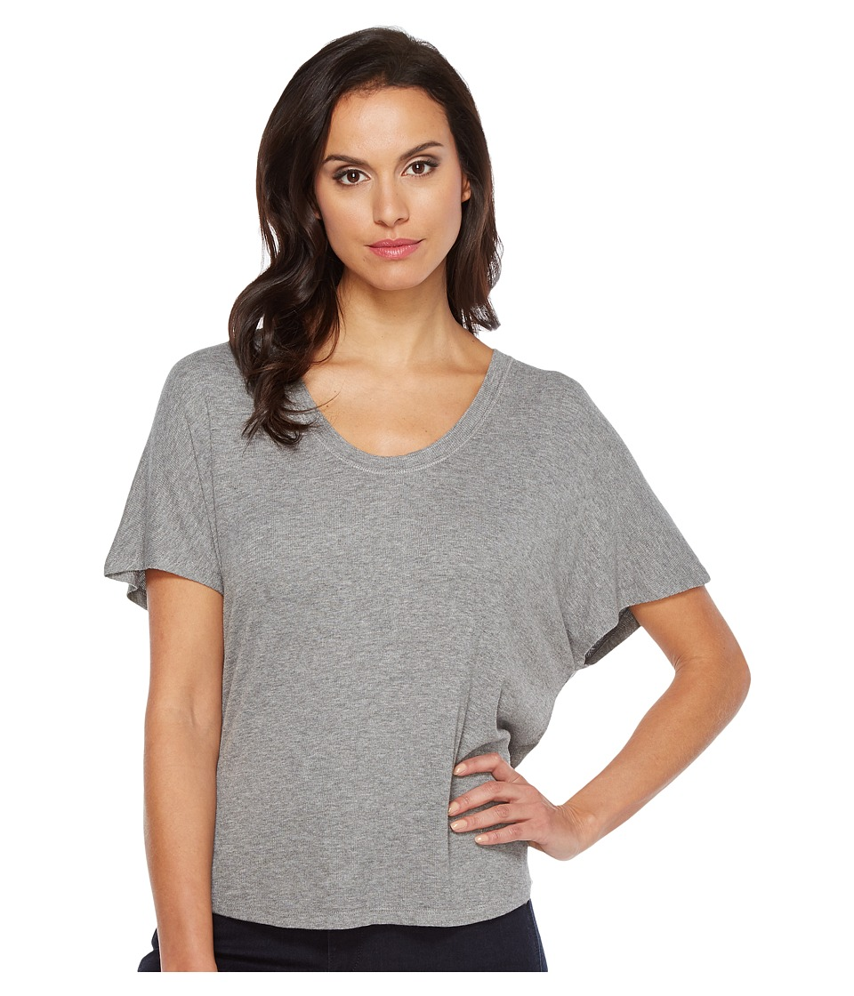 HEATHER - Rib Shirttail Tee (Light Heather Grey) Women's T Shirt