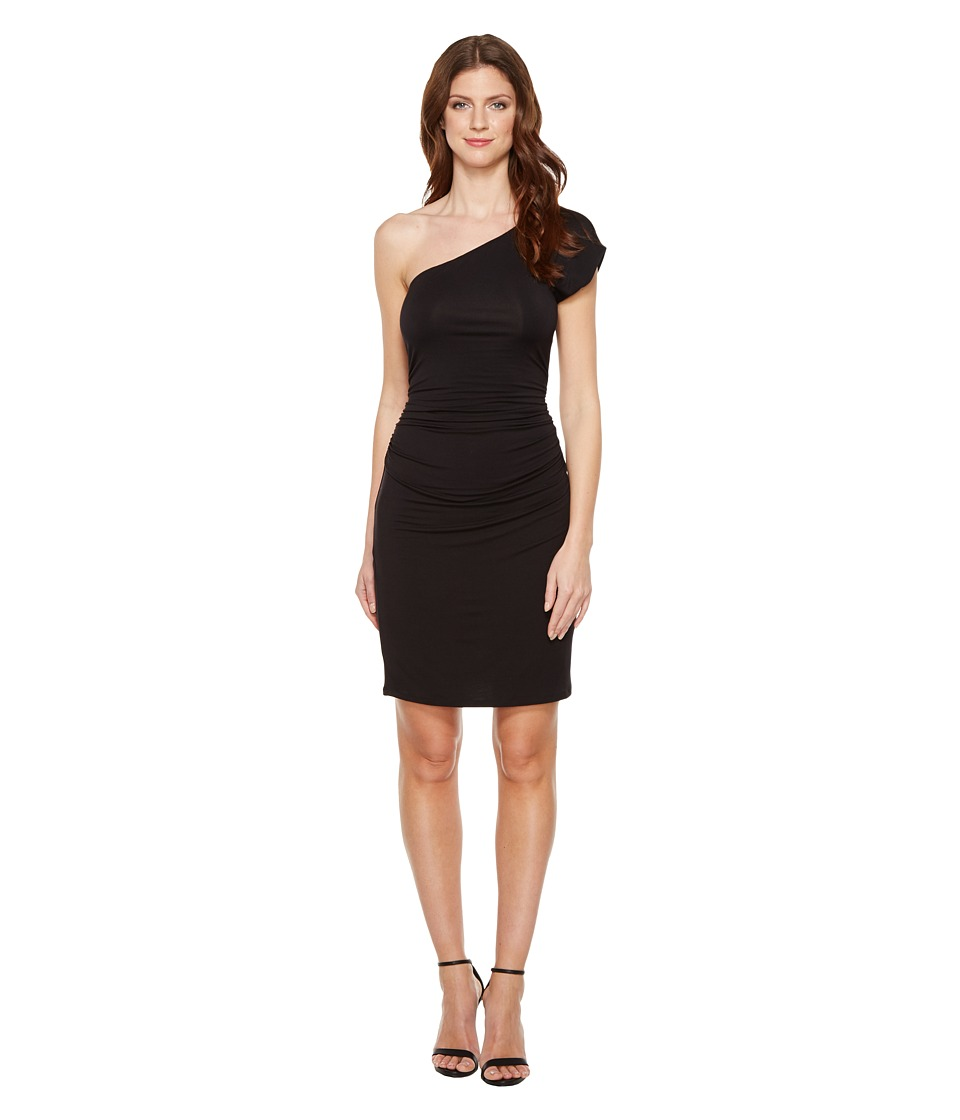 HEATHER - One Shoulder Dress (Black) Women's Dress