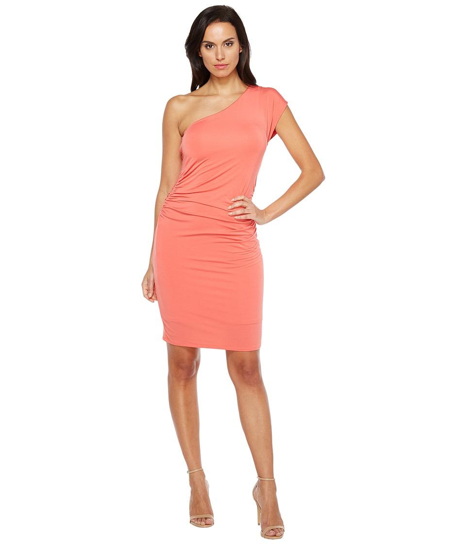 HEATHER - One Shoulder Dress (Melon) Women's Dress