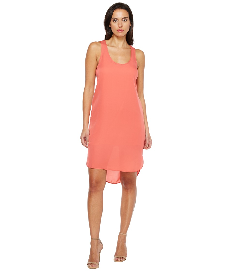 HEATHER - Silk Scoop Tank Dress (Melon) Women's Dress