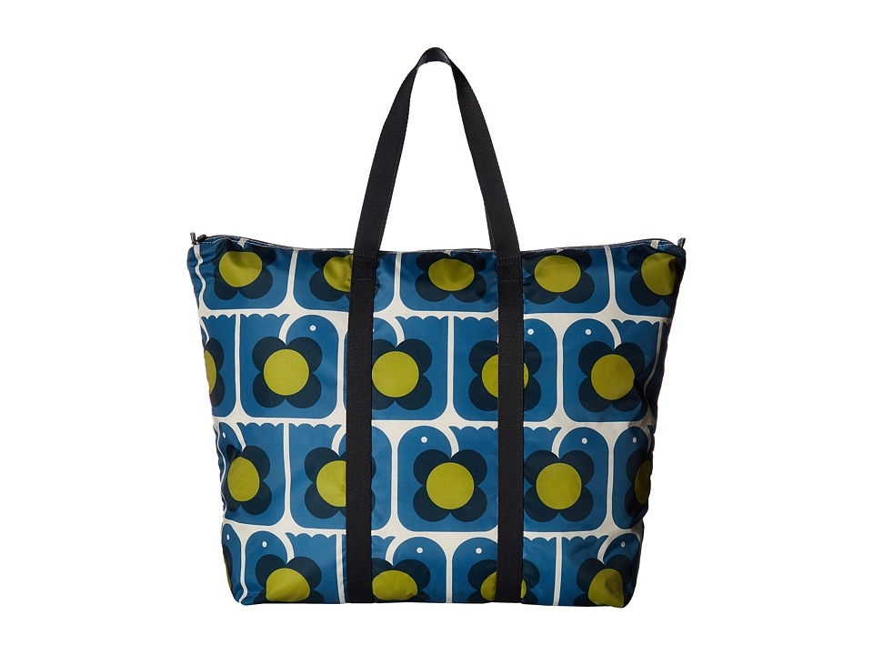 Orla Kiely - Love Birds Print Foldaway Travel Bag (Marine) Bags