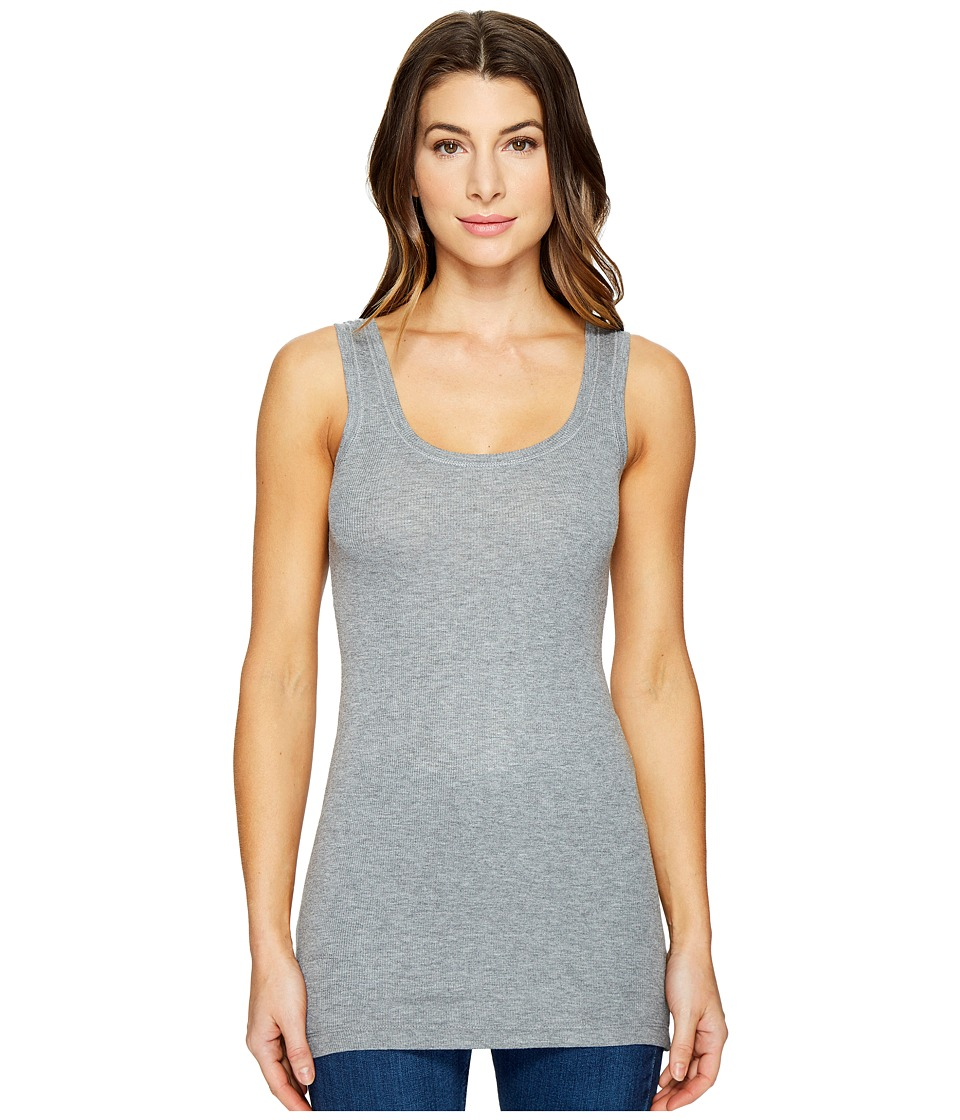 HEATHER - Basic Rib Tank Top (Heather Grey) Women's Sleeveless