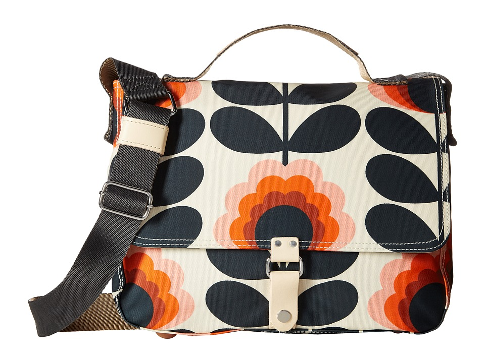 Orla Kiely - Summer Flower Stem Satchel (Sunset) Satchel Handbags