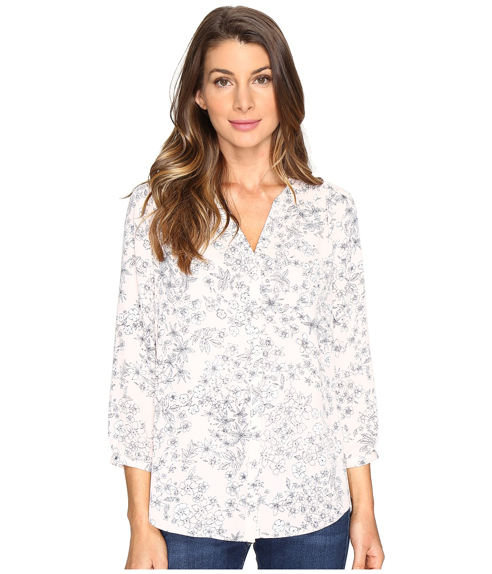 NYDJ - Solid Blouse w/ Pleated Back (Minimal Etching Macaron) Women's Blouse