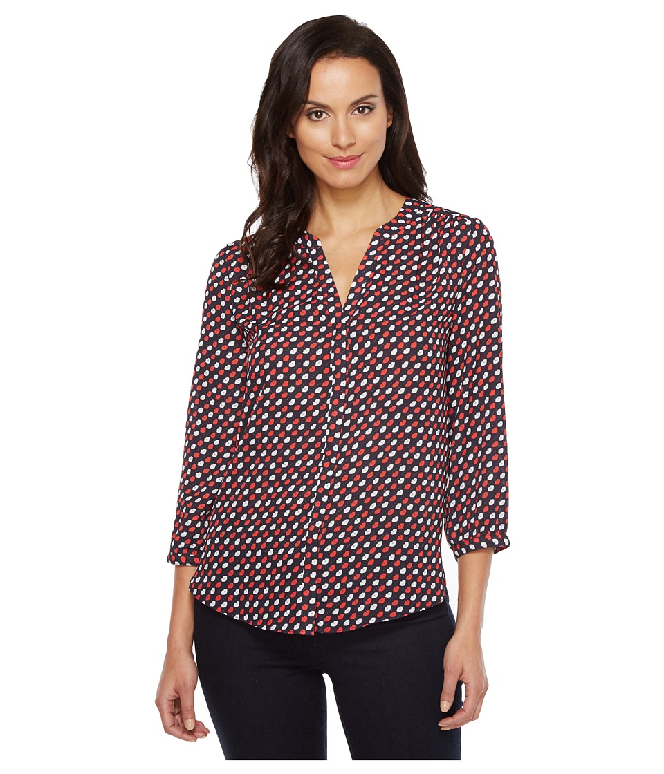 NYDJ - Solid Blouse w/ Pleated Back (French Kisses) Women's Blouse