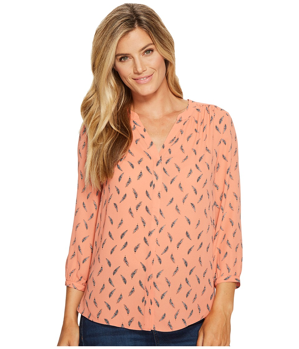 NYDJ - Solid Blouse w/ Pleated Back (New Wheat Toasted Apricot) Women's Blouse