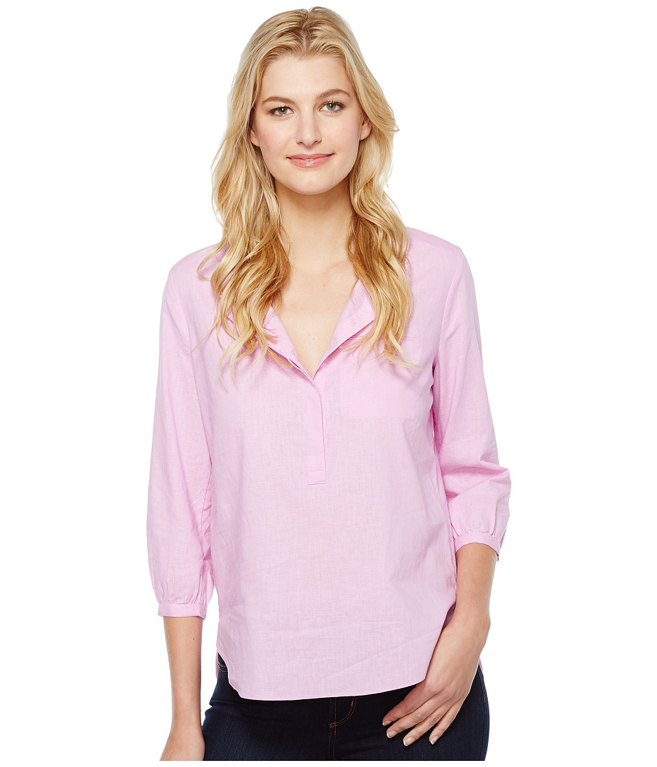 NYDJ - Linen Pleat Back Blouse (Pale Orchid) Women's Blouse