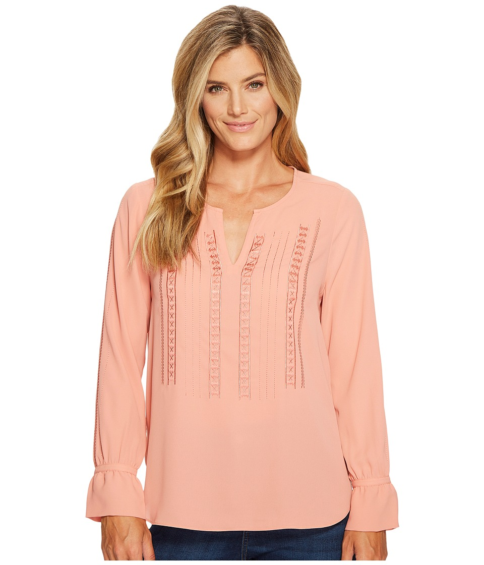 NYDJ - Embroidered Blouse (Toasted Apricot) Women's Blouse