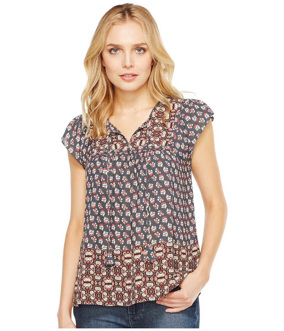 NYDJ - Mixed Border Print Blouse (Saharan Border Coppertone) Women's Blouse