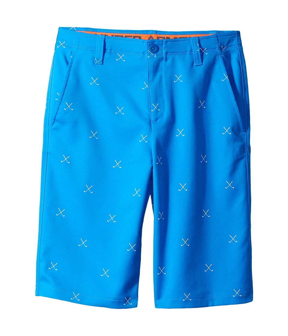 Under Armour Kids - Match Play Printed Shorts (Little Kids/Big Kids) (Mako Blue/Magma Orange/Mako Blue) Boy's Shorts
