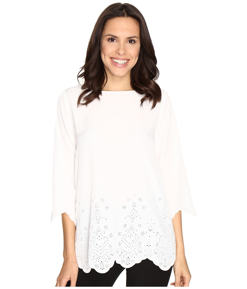 NYDJ - Abigail Embroidered Tunic (Sugar) Women's Blouse