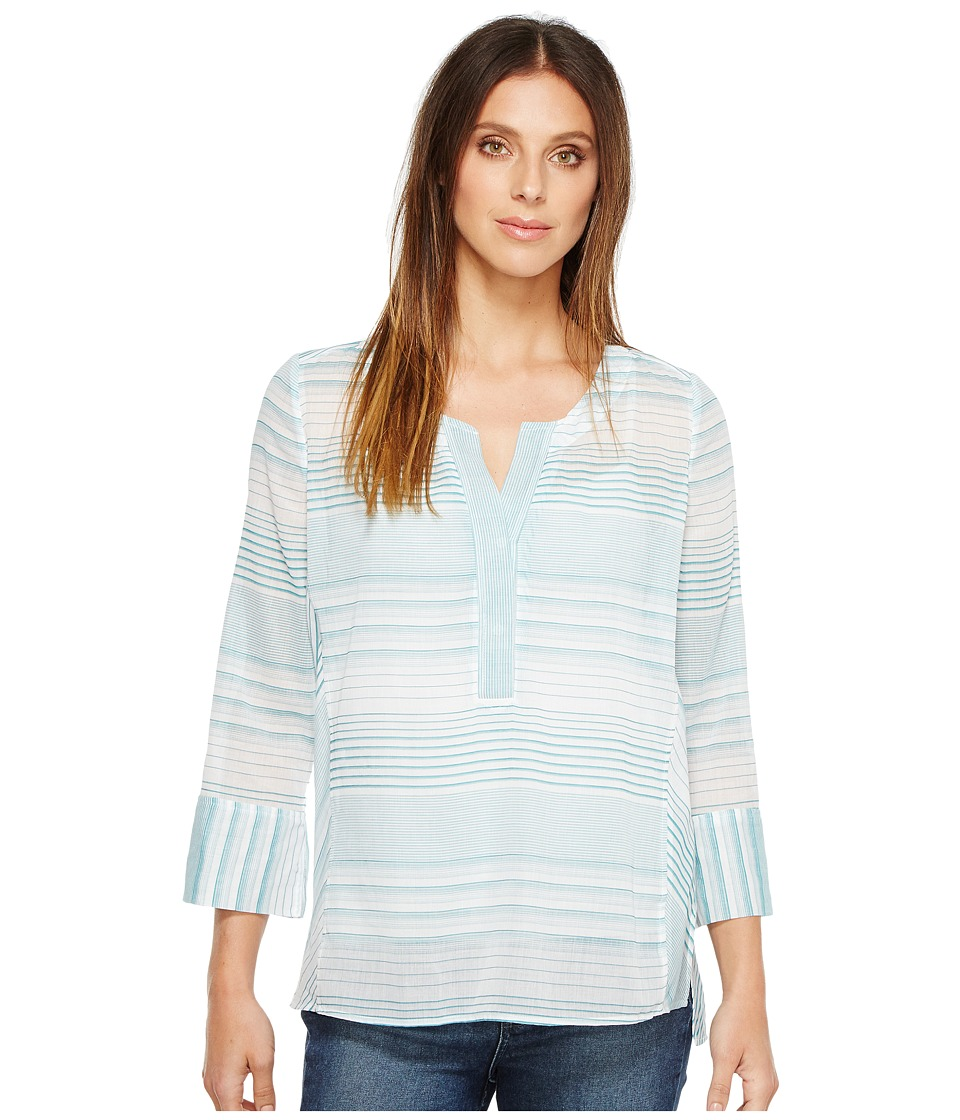 NYDJ - Stripe Tunic (Cabana Green) Women's Blouse