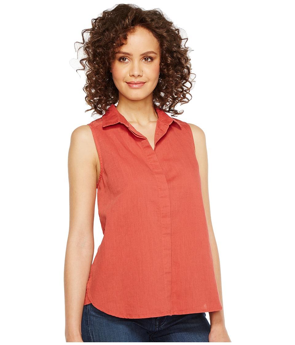 NYDJ - Garment Dye Linen Sleeveless Top (Coppertone) Women's Sleeveless