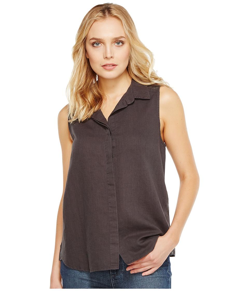 NYDJ - Garment Dye Linen Sleeveless Top (Vintage Black) Women's Sleeveless