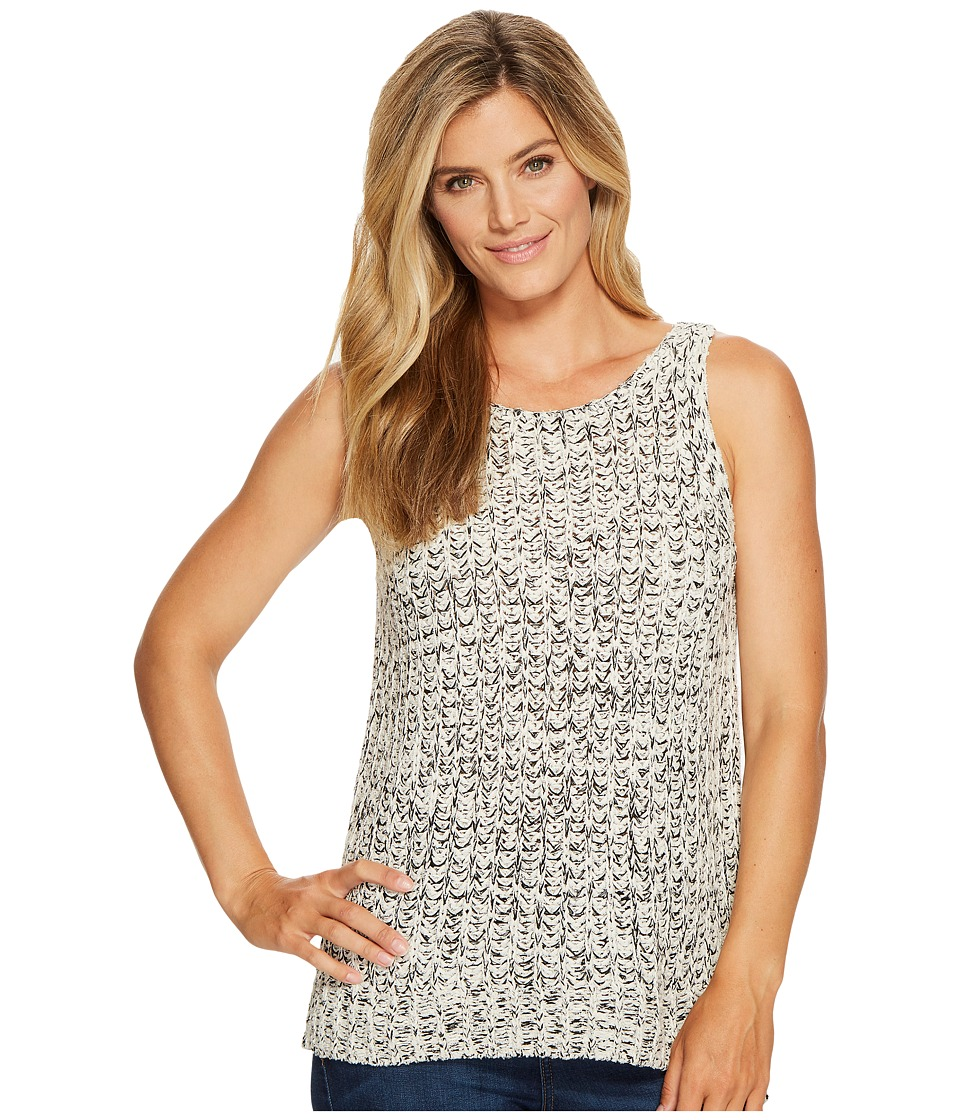 NYDJ Tape Yarn Sweater Tank Top (Natural Black) Women