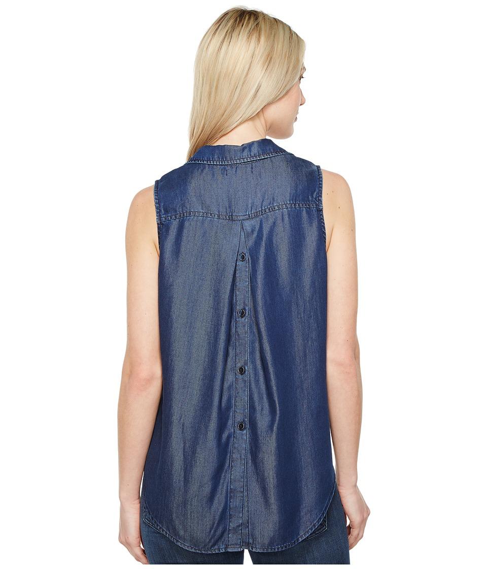 NYDJ - Indigo Tencel Sleeveless Top (Breton Dark Rinse) Women's Sleeveless