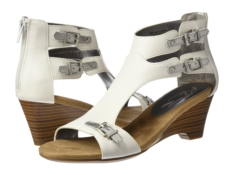A2 by Aerosoles - Mayflower (White/Silver) Women's Shoes