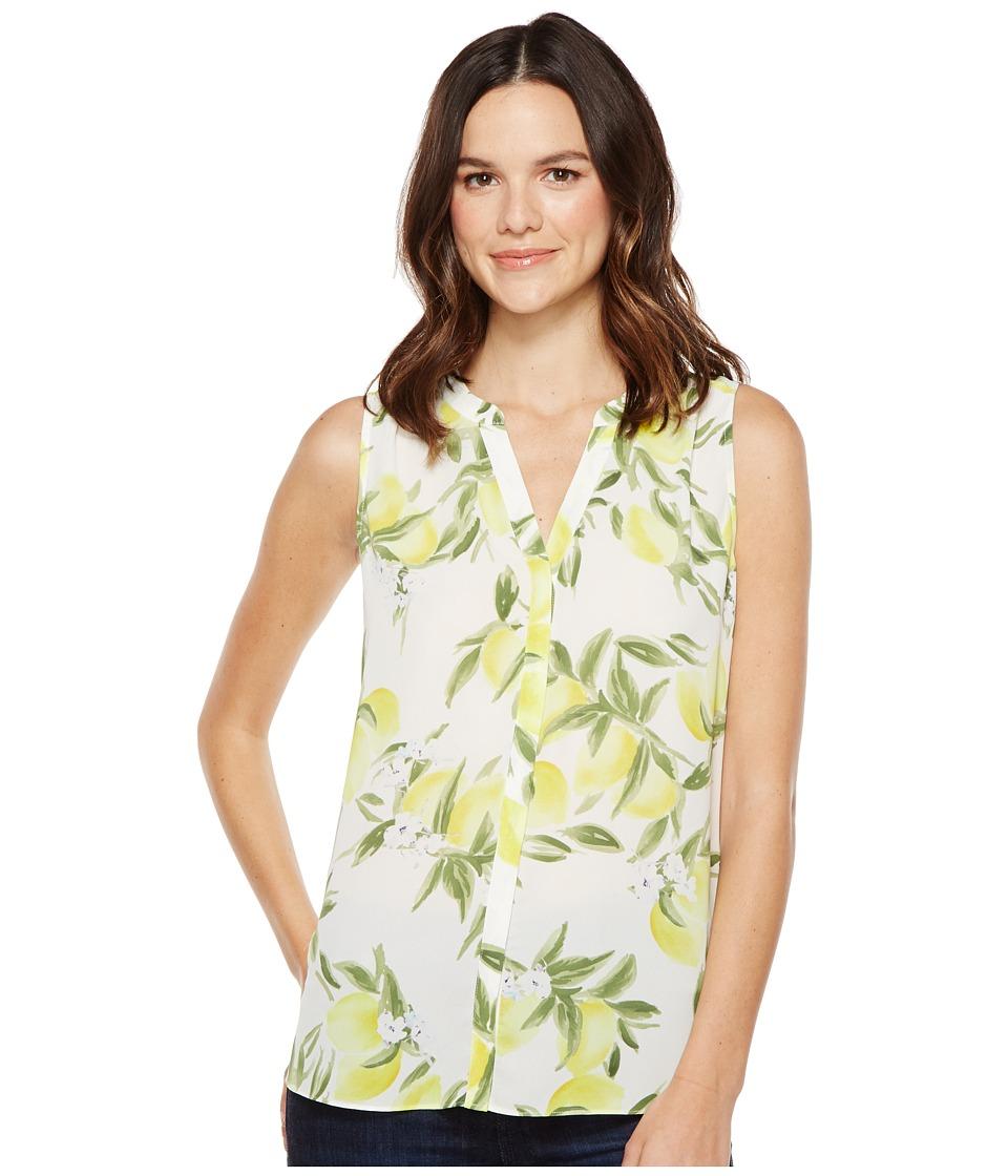 NYDJ - Sleeveless Pintuck Pleat Back (Summer Citrus Soleil) Women's Sleeveless