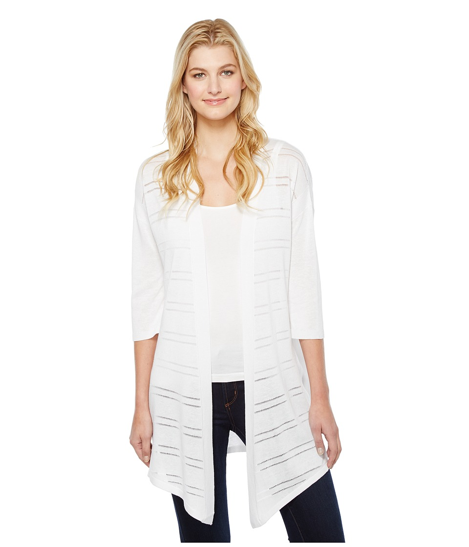 NYDJ - Pointelle Cardigan (Optic White) Women's Sweater