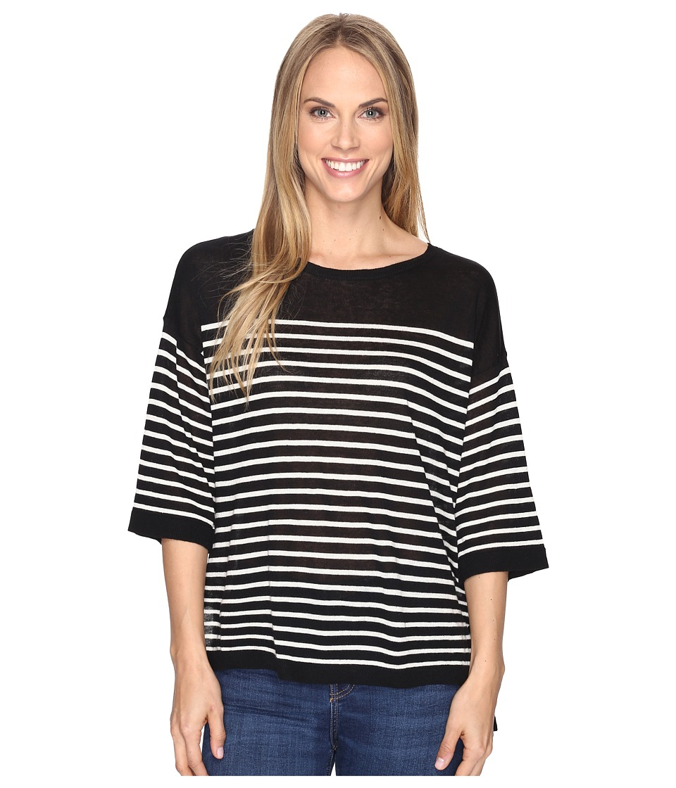 NYDJ - Serra Sweater (Black/Natural) Women's Sweater
