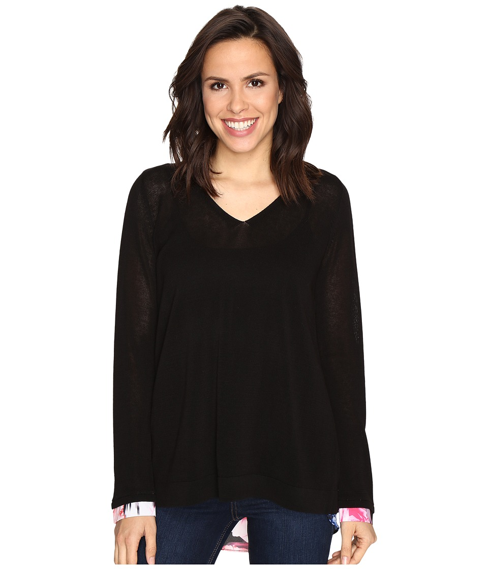 NYDJ - Twofer Sweater (Black) Women's Sweater