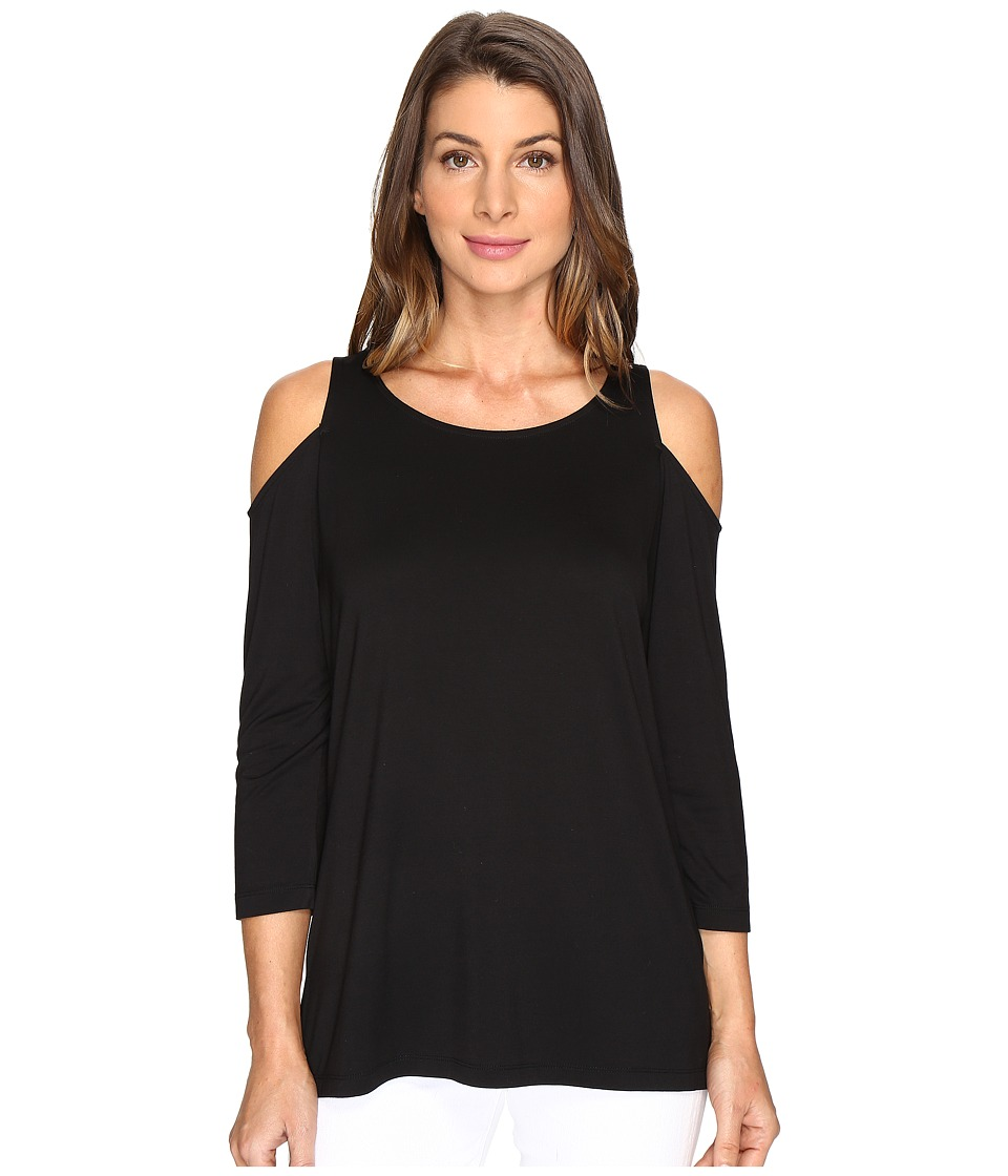 NYDJ - Cold Shoulder Tee (Black) Women's T Shirt