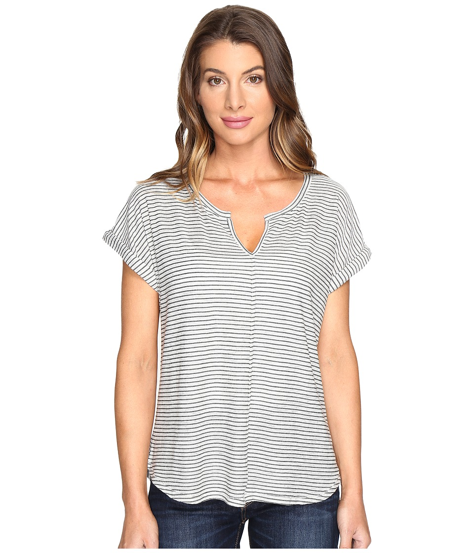 NYDJ - Riley Striped Tee (Black/Natural) Women's T Shirt