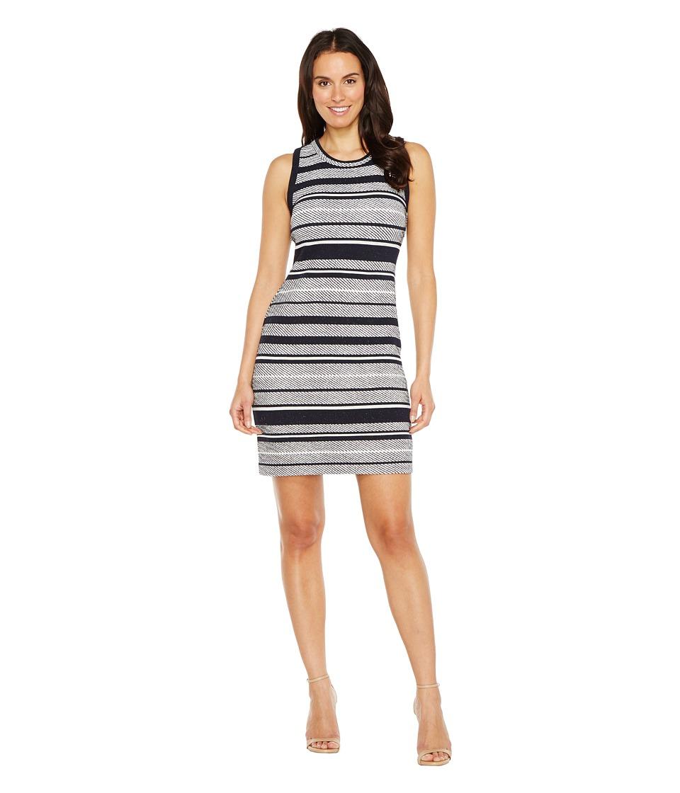 Karen Kane - Indigo Stripe Jacquard Dress (Stripe) Women's Dress