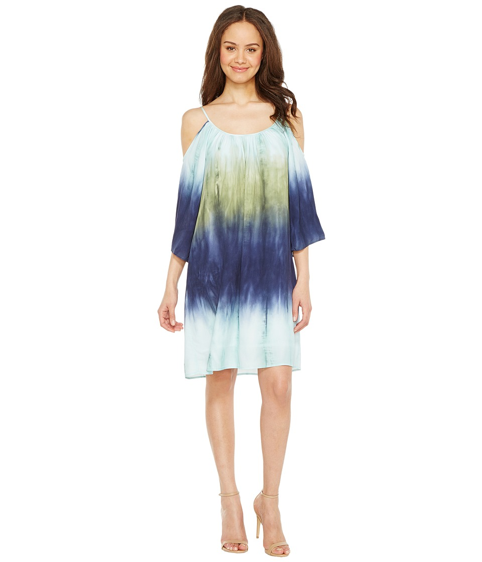 Karen Kane - Cold Shoulder Ombre Dress (Print) Women's Dress