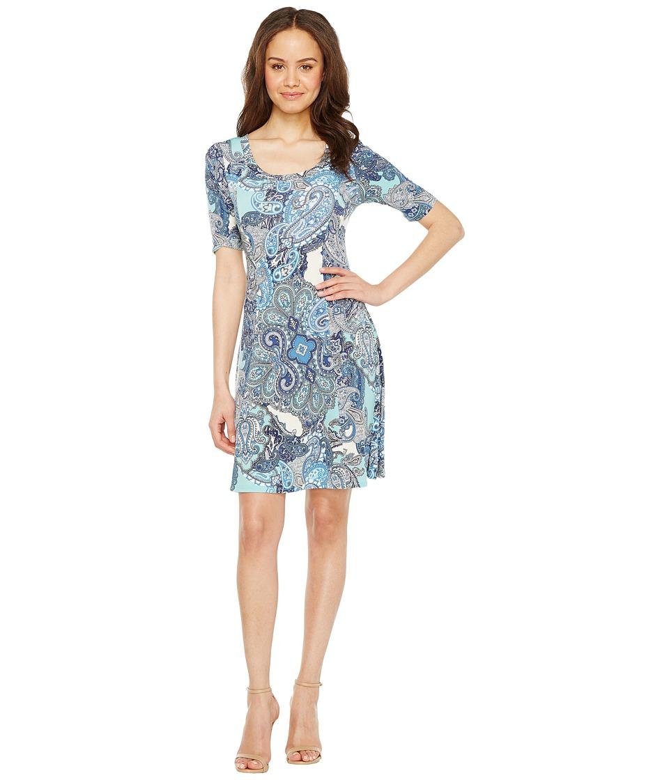 Karen Kane - Pencil Sleeve A-Line Dress (Print) Women's Dress