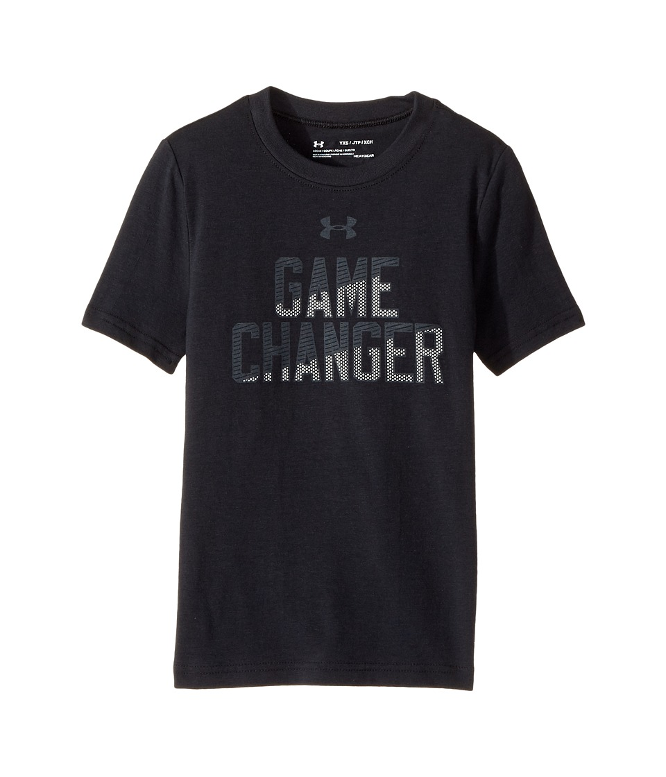 Under Armour Kids - Game Changer Short Sleeve Tee (Big Kids) (Black/White/Stealth Gray) Boy's T Shirt