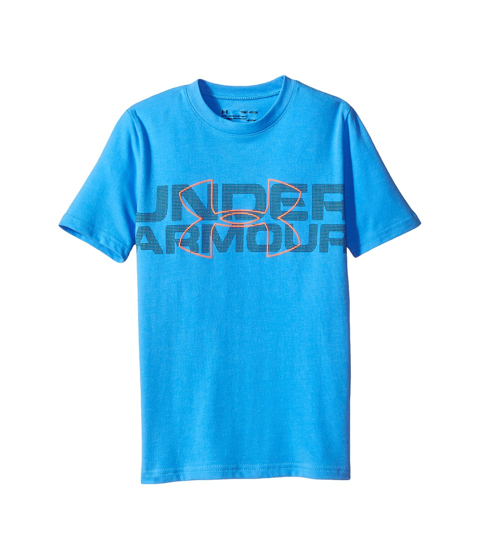 Under Armour Kids - Duo Armour Short Sleeve Tee (Big Kids) (Water/Midnight Navy/Magma Orange) Boy's T Shirt
