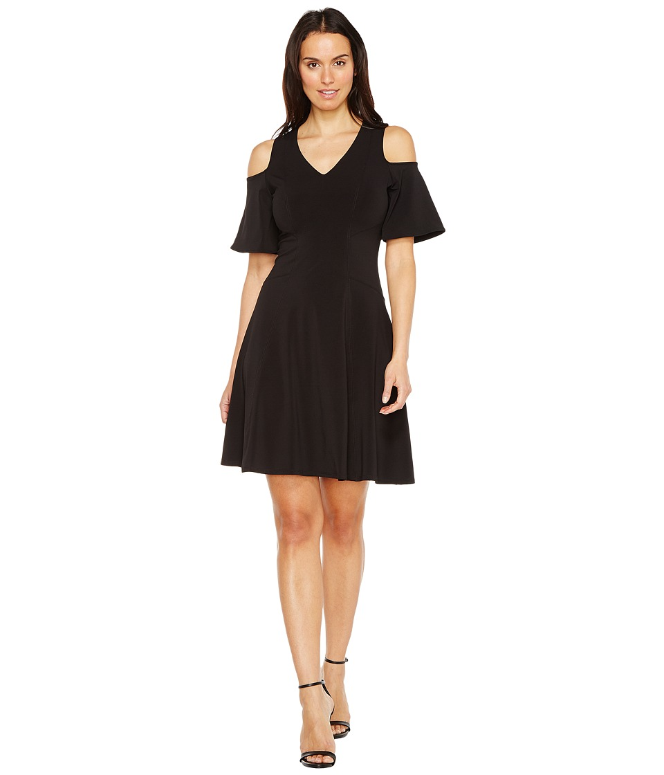 Karen Kane - Cold Shoulder Travel Dress (Black) Women's Dress