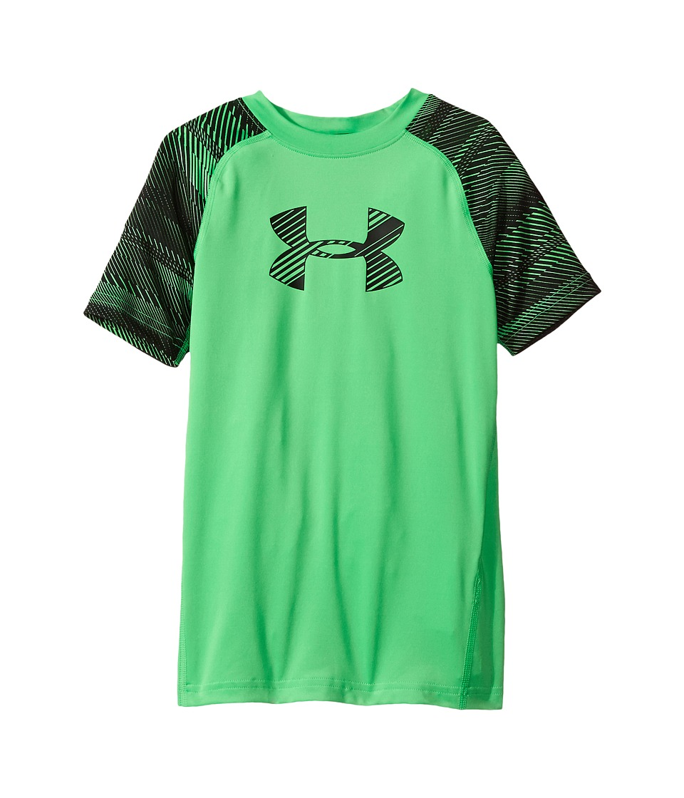 Under Armour Kids - Armour Train to Game Top (Big Kids) (Lime Twist/Lime Twist/Black) Boy's Clothing